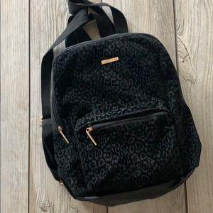 NWOT Ramage black backpack rose gold hardware